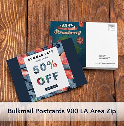 Bulkmail Postcards 900 LA Area Zip