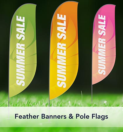 Feather Banners and Pole Flags